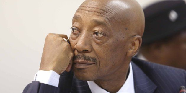 Tom Moyane during his appearance before Parliament's finance committee on November 28, 2017 in Cape Town,...