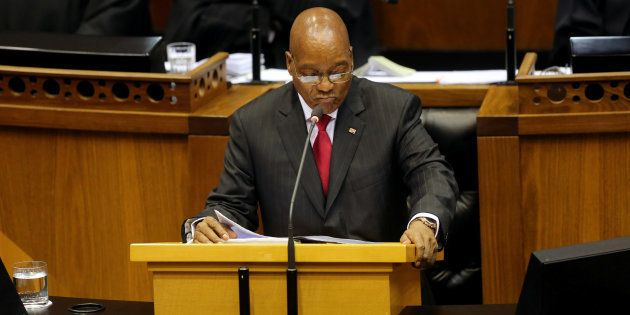 President Jacob Zuma delivers his State of the Nation Address (SONA) to a joint sitting of the National...