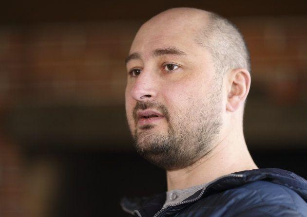 Russian journalist Arkady Babchenko at an interview in Kiev, Ukraine. November 14