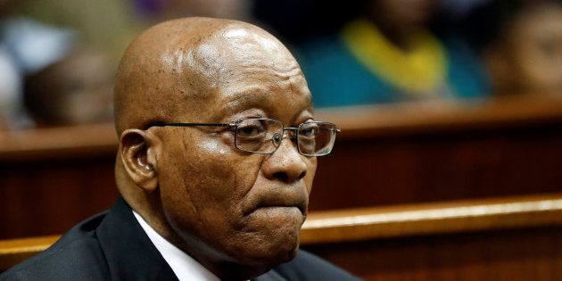 Former president Jacob Zuma appears at the KwaZulu-Natal High Court in Durban, South Africa April 6,
