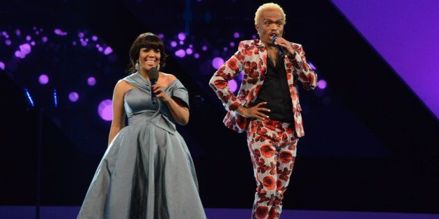 Tumi Morake and Somizi Mhlongo as hosts of