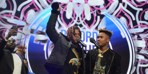 Distruction Boyz receives the Record of the Year award for the hit