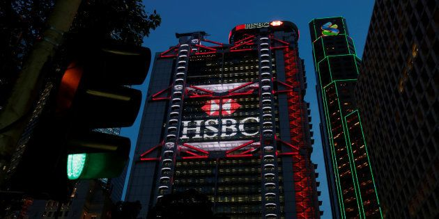 HSBC headquarters is seen at the financial Central district in Hong Kong, China September 6,