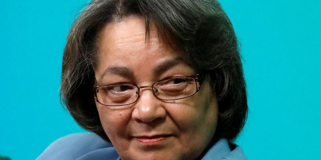 Cape Town Mayor Patricia de Lille attends the C40 Cities Women4Climate event in New York City, U.S. March...