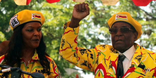 President Robert Mugabe and his wife