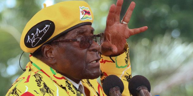 Zimbabwean President Robert Mugabe, who is under pressure from a military-backed Zanu-PF faction to