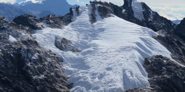 This glacier, on Indonesia's highest peak, is on very thin ice, if you'll excuse the