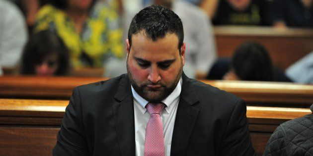 Christopher Panayiotou during the judgement on his murder trial at the Port Elizabeth High Court on November...
