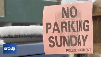 'No Parking' sign in the Inwood neighborhood.