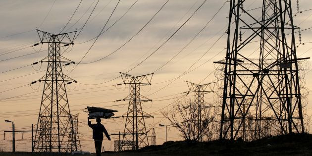 Eskom electricity pylons, Soweto, South