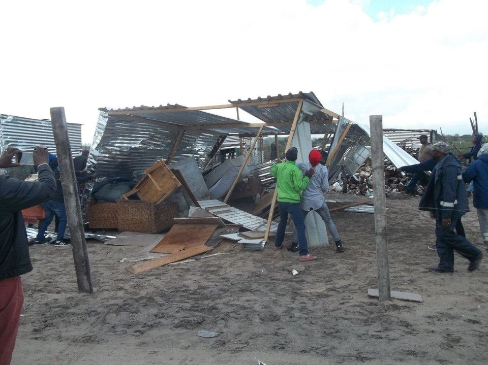 Residents of Khayalitsha destroyed a shack on Saturday, June 9 2018, and then stole the contents and...