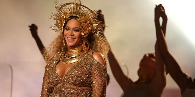 FILE PHOTO - Beyonce performs at the 59th Annual Grammy Awards in Los Angeles, California, U.S. on February...