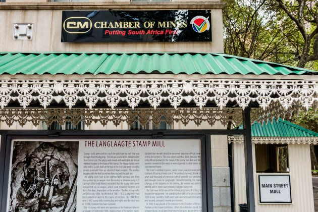 South Africa Johannesburg Main Street Mall Corporate Mining District Walk Chamber of Mines Langlaagte...