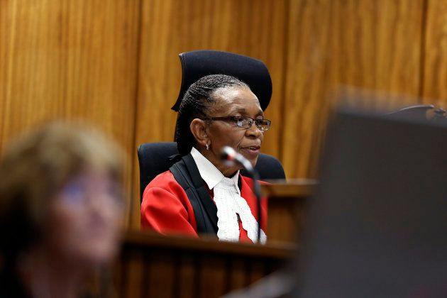 Judge Thokozile Masipa delivers her verdict in the trial of Olympic and Paralympic track star Oscar Pistorius...
