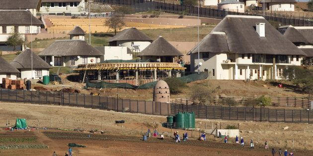 A general view of the Nkandla home of South Africa's President Jacob Zuma in Nkandla is seen in this...