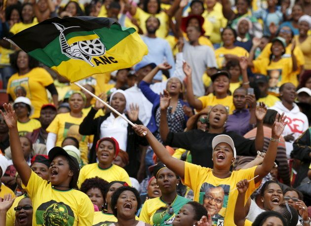 Supporters of South African President Jacob Zuma's ruling African National