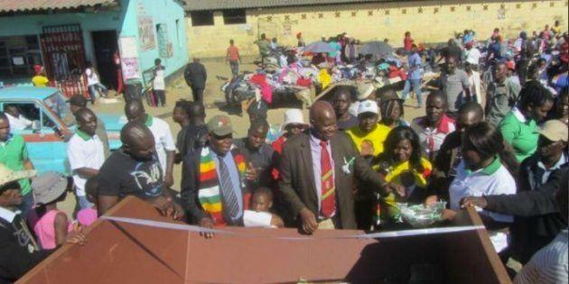 Zimbabwean Twitter Is Lit Thanks To Finance Minister, Patrick Chinamasa's Ribbon-Cutting