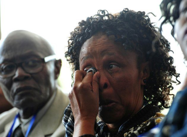 Jalisile Ngqondwana, who is a mother to one of the victims, couldnt hold back tears during the Life Esidimeni...