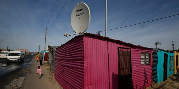 A DStv satellite dish in Khayelitsha township, Cape Town, May 25, 2017. DStv belongs to MultiChoice,...