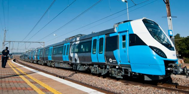 One of Prasa new trains on the track during testing on May 24, 2016 in Pretoria, South