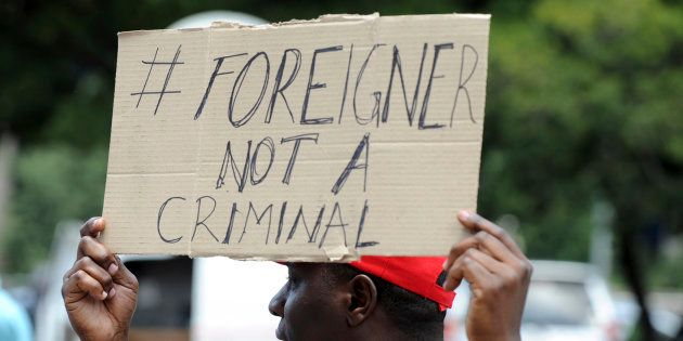 A protest aginst xenophobia in Johannesburg in December