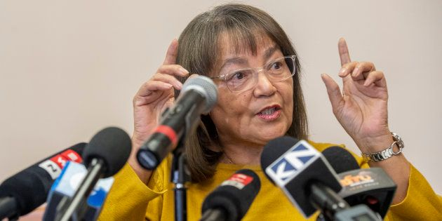 Patricia de Lille addresses the media after her ousting as Cape Town mayor by the Democratic Alliance...