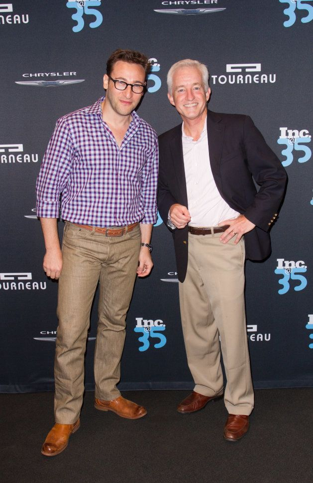 Simon Sinek and Eric Schurenberg attend Inc. Magazine 35th Anniversary Party at Tourneau Time Machine...