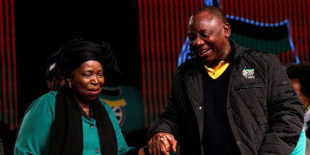 Presidential candidates Nkosazana Dlamini-Zuma and Cyril Ramaphosa ahead of the African National Congress...