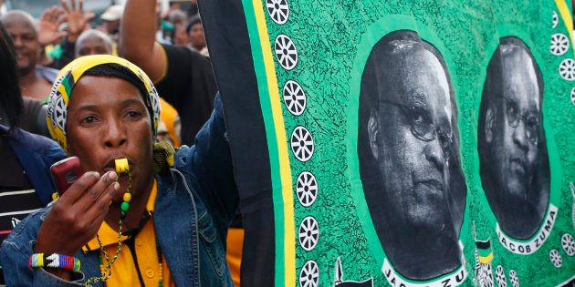 Delegates to the ANC's 2012 leadership conference, which re-elected President Jacob Zuma for a second...