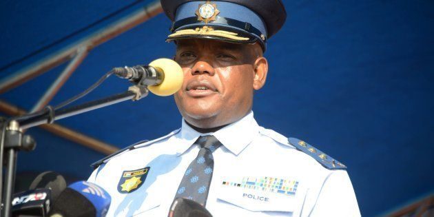 PRETORIA, SOUTH AFRICA; APRIL 04: Acting national police commissioner Khomotso Phahlane during his official...