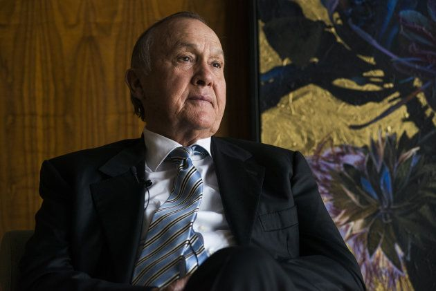 Christo Wiese, billionaire and chairman of Steinhoff Holdings NV, looks on during a Bloomberg Television...