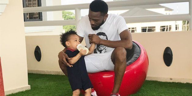D'Banj and his late son,