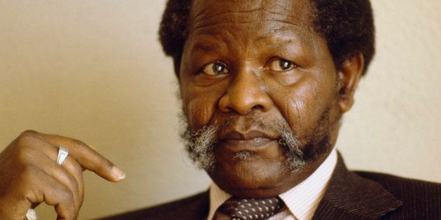The leader of the African National Congress, Oliver Tambo, during his exile in Botswana. (Photo by William...