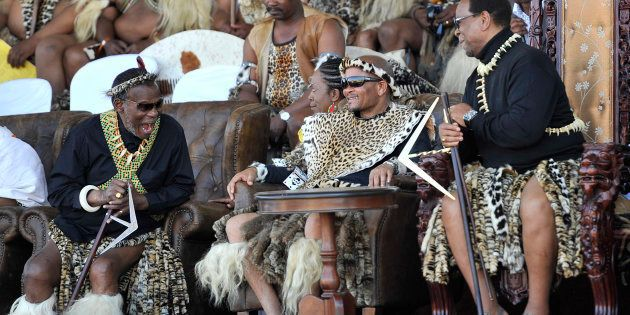 IFP leader and prince Mangosuthu Buthelezi, former KwaZulu-Natal premier Senzo Mchunu and King Goodwill