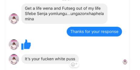 Khosi Madzonga's response to a journalist from The