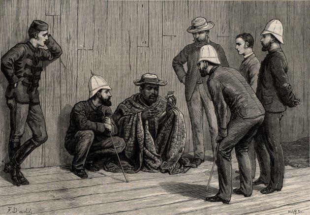 Zulu King Cetshwayo (d1884), was made a political prisoner after the