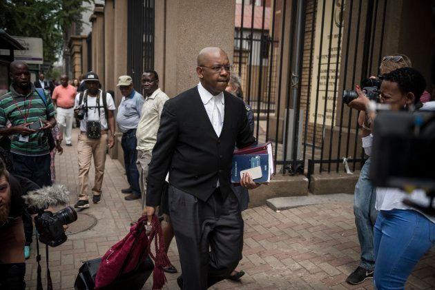 PRETORIA, SOUTH AFRICA NOVEMBER 01: (SOUTH AFRICA OUT): Advocate Dali Mpofu outside the Pretoria High...