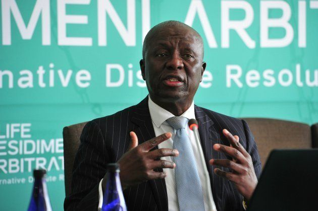 JOHANNESBURG, SOUTH AFRICA OCTOBER 09: (SOUTH AFRICA OUT): Former Deputy Chief Justice Dikgang Moseneke...