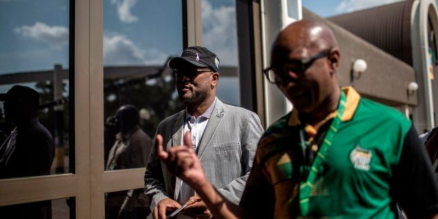 Minister of Arts and Culture Nathi Mthethwa (L) and former ANC spokesperson Zizi