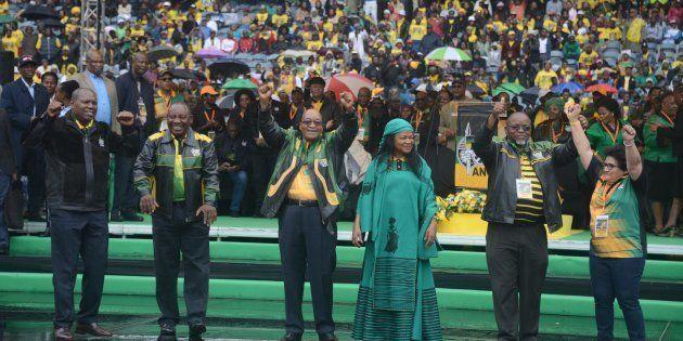 ANC secretary general Gwede Mantashe,deputy secretary general Jessie Duarte, treasury general Zweli Mkhize,...
