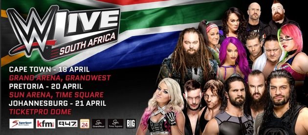 Live World Wrestling Entertainment Is Coming To SA And Here's Why We Are So Excited