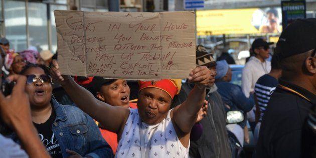 Port Elizabeth municipal workers on strike in June demanding back