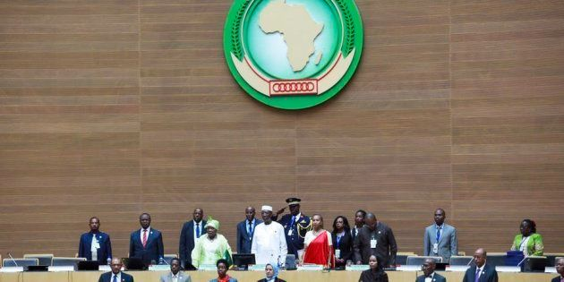 African leaders at the closing of the 26th African Union Summit in Addis Ababa, in