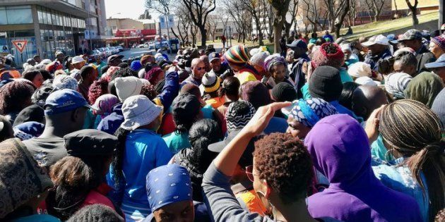 About 200 former workers for the municipality picketed outside the Civic Centre in Germiston on Thursday...