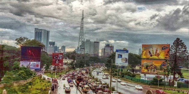 Afternoon traffic into Nairobi's