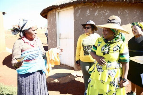 Dlamini-Zuma visits residents of Nquthu, KwaZulu-Natal, during the ANC's door-to-door bi-election campaign...