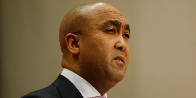 National Director of Public Prosecutions Shaun Abrahams speaks during a media briefing in Pretoria, South...
