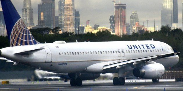 A United Airlines Airbus A320 passenger jet taxis on the tarmac at LaGuardia Airport in the New York...