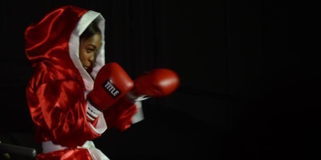 K.Naomi during the South African Boxing Awards at the Durban International Convention Centre (DICC) on...