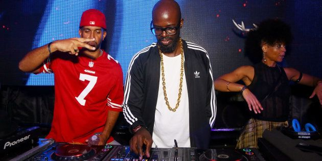 DJ Black Coffee plays at the Treats! magazine 7th Halloween Party on October 31, 2017 in Los Angeles,